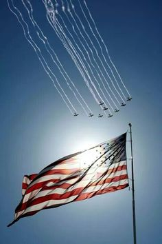 Planes fly in formation past the American flag during the national anthem before a NASCAR Sprint Cup Series auto race at Kansas Speedway in Kansas City Kan. on Sunday Oct. 5 - America Flag - Ideas of America Flag I Love America, God Bless America, Awesome America, Independance Day, Let Freedom Ring, Home Of The Brave, Land Of The Free, All Nature, To Infinity And Beyond