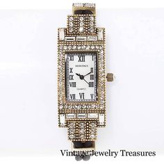 Heidi Daus Art Deco Design Clear Crystal Double Cord Watch New HSN #HeidiDaus #LuxuryDressStyles