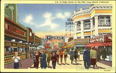 Long Beach Pike Postcard