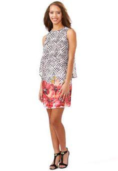 Cato Fashions Mixed Print Popover Dress #CatoFashions