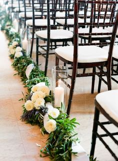 Green and White Wedding Ceremony Ideas