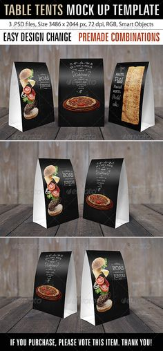 Table Tents Mock Up Template #flyer #cafe Download : https://graphicriver.net/item/table-tents-mock-up-template/7875646?ref=pxcr