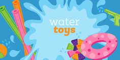 WATER TOYS CLIPART SET Time To Get Your Splash On With This Awesome Set