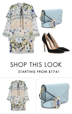 """17.02.10"" by ulrika843 ❤ liked on Polyvore featuring Erdem, Miu Miu and Gianvito Rossi"
