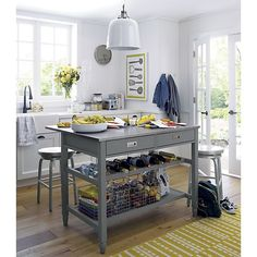 For Porch 2014   Sheridan Grey Kitchen Island in New Furniture | Crate and Barrel