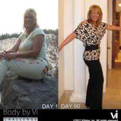 90-Day Weight-Loss Results! Check out the 90 Day challenge at: www.kellyriscossa.bodybyvi.com #weightloss #90daychallenge #visalus #bodybyvi