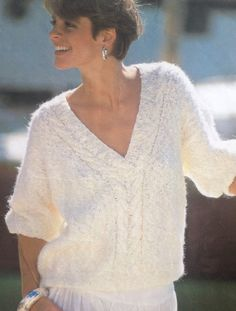 Knitting Pattern Ladies/Woman's V Neck Mohair by makenshare