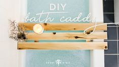 Click to learn how to turn your bathroom into a spa! Love this #diy #bathroom #caddy!