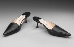 1990s, Italy - Pair of woman's shoes by Manolo Blahnik - Leather