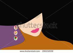 woman in a hat on a floral background, fashion, art  - ViktoriyaPanasenko, fashion illustration