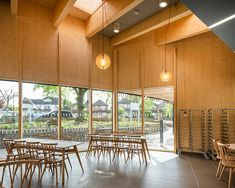 TRADA | Timber Research and Development Association Timber Buildings, Study Space, Reinforced Concrete, Main Entrance, Steel Structure, Built Environment, How To Level Ground, Ground Floor, Case Study