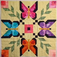 Лоскутная палитра            Patchwork palette: Бабочки в стиле Pam Bono