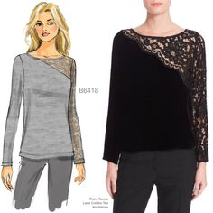 Sew the Look: Butterick B6418 lace top