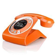 Retro Modern Orange Phone