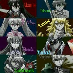 Main characters from Akame ga Kill! Sad Anime, Me Me Me Anime, Anime Manga, Anime Art, Anime Character Names, Anime Characters, Character Art, Akame Ga Kill, Magical Warfare