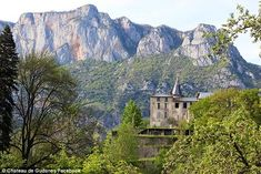 The chateau sits on the edge of a ledge overlooking the Midi-Pyrénées in the south of France