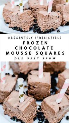 Mini Desserts, Cold Desserts, Frozen Desserts, Cookie Desserts, Summer Desserts, Frozen Treats, Easy Desserts, Delicious Desserts, Dessert Recipes