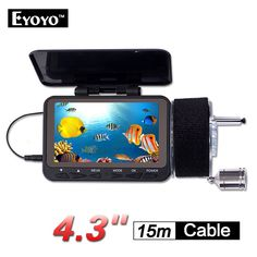 """130.38$  Watch here - http://aliiq8.worldwells.pw/go.php?t=32787391536 - """"Free shipping!EYOYO F06-15MDVR 15m 4.3"""""""" LCD Underwater Video Camera Fish Finder w/DVR Function Ocean Boat"""" 130.38$"""