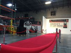 Thank you for using us Toyota Forklifts of Atlanta!  Your event looked great! #Atlanta #rental #red #carpet #stanchion #ropes # VIP #celebration