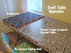 I can put contact paper over Josh's butt ugly table (the one I passionately despise).