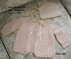 Pink sweater and bonnet