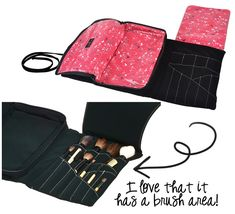 Loving This: Hold Me's Amazing Cosmetic Brush and Makeup Travel Bag via @15 Minute Beauty