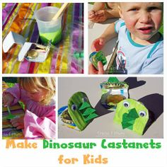 DIY Dinosaur Castanet Craft for Kids from Learn with Play at Home