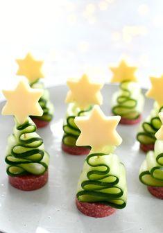 Holiday Snacks, Christmas Party Food, Xmas Food, Holiday Appetizers, Party Snacks, Christmas Baking, Appetizer Recipes, Holiday Recipes, Food Art For Kids