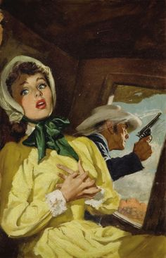 Pulp, Pulp-like, Digests, and Paperback Art, AMERICAN ILLUSTRATOR (20th Century). Western pulp cover.