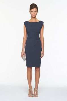 @Melissa Voeller Wildermuth this dress would be great, in navy (this is similar to my purple one)