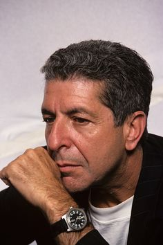 Canadian singersongwriter musician poet and novelist Leonard Cohen at a photo shoot on July 18 1988 in New York City