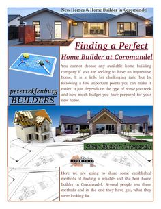 Here we are going to share some established methods of finding a reliable and the best Home Builder Coromandel. Several people test these methods and in the end they have got, what they were looking for.