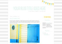 Blogger Templates | Beautiful Dawn Designs - Part 3