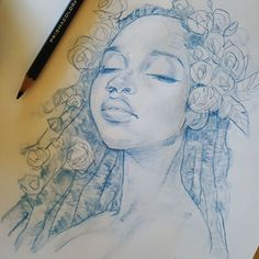 Mel Milton, pencil {character illustration beautiful female face portrait drawing} melmade.blogspot.com