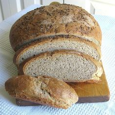 A rye sour adds tang to this Polish rye bread recipe that features a caraway-seed topping. The starter will take two days to ripen or use the shortcut.