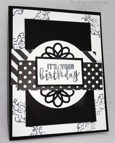 Handmade Birthday Card, Stampin' Up! - Balloon Adventures Stamp Set www.beebugcreations.com