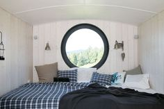 slaapplaats in caravan