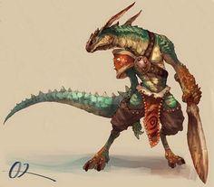 Ban-Jingshen Family She Reptile Fantasy Art Men, Fantasy Races, Fantasy Kunst, Fantasy Rpg, Medieval Fantasy, Fantasy Warrior, Dnd Characters, Fantasy Characters, Fantasy Creatures