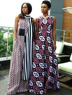 Would be great for tropical places or cruise and resort! African Inspired Fashion, African Print Fashion, Africa Fashion, Ethnic Fashion, Fashion Prints, African Dresses For Women, African Attire, African Wear, African Women