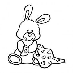 teddy #baby #digi stamp #line drawing