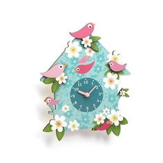 Coucou Charlotte – Djeco clock for child's room  £24.50  This is a beautifully designed wall clock that will make a superb decorative and functional addition to any little girl's bedroom