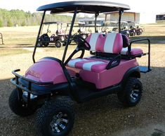 pink golf cart   golf-cart-jackson-ms-525. When I saw this, it made me think of you Tay! ; )