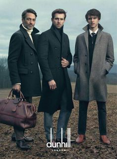 Assortment of Overcoats, by Dunhill, Men's Fall Winter Fashion.