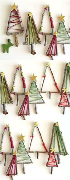 11 Stunning DIY Christmas Decorations You Will Obs. 11 Stunning DIY Christmas Decorations You Will Obsess Over Mini Christmas Tree Decorations, Twig Christmas Tree, Easy Christmas Crafts, Noel Christmas, Christmas Projects, Christmas Movies, Christmas Quotes, Xmas Trees, Diy Tree Decorations