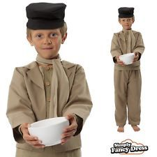 Oliver Twist Costume Boys Victorian Film Fancy Dress World Book Day
