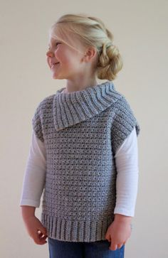 Crochet Pattern -Lula Pullover, Sizes 12-18mo, Toddler, Child, Youth, Adult S/M/L