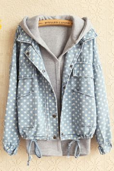 Polka Dot Hooded Twin-sets OASAP.com