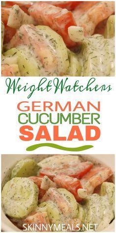 German Cucumber Salad #weightwatchers #german #cucumber #saladrecipes #cucumbersalad #ketogenic #weight_watchers