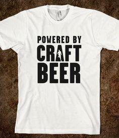 Powered by craft beer shirt - #running #craftbeer community
