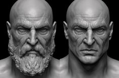 Browse the Second part of our God Of War Art Gallery made for God Of War featuring art by Arda Koyuncu, Raf Grassetti and Yefim Kligerman. Zbrush Character, Character Modeling, 3d Character, 3d Modeling, Anatomy Head, Sculpture Clay, Sculptures, Anatomy Sketch, Anatomy Sculpture